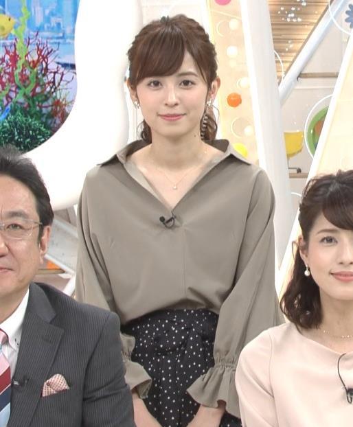 久慈暁子アナ 胸元がはだけているようなシャツキャプ・エロ画像5