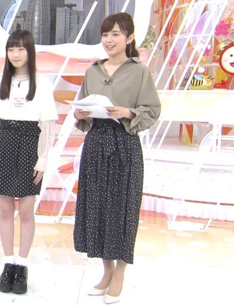 久慈暁子アナ 胸元がはだけているようなシャツキャプ・エロ画像6