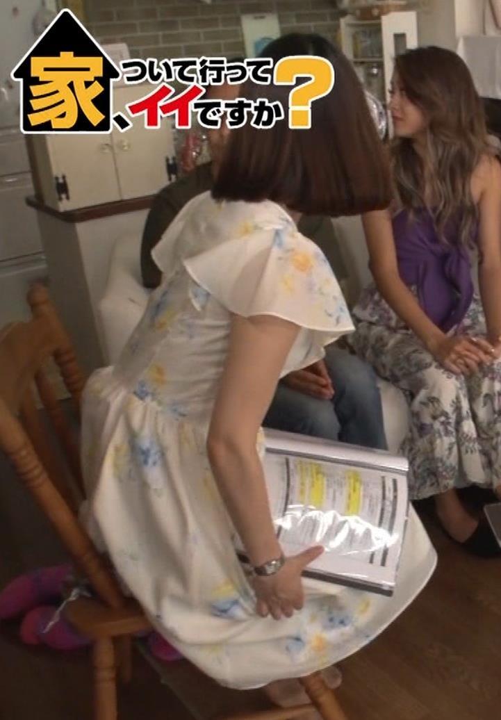 角谷暁子アナ 横乳&ちょいワキちら!かなり巨乳みたいですキャプ・エロ画像15