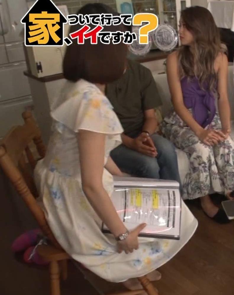 角谷暁子アナ 横乳&ちょいワキちら!かなり巨乳みたいですキャプ・エロ画像16