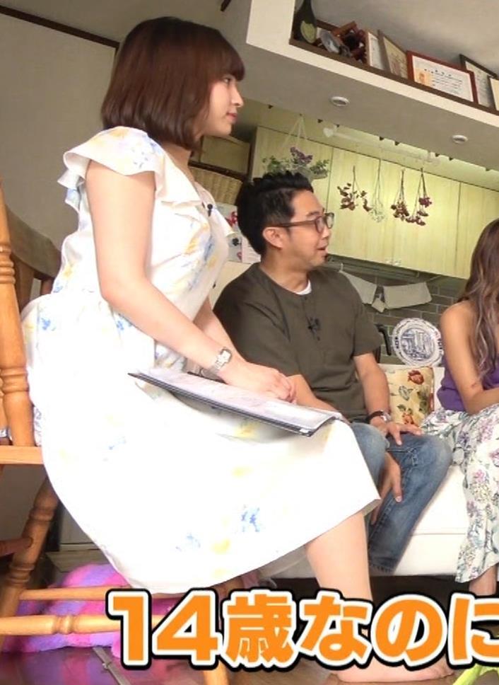 角谷暁子アナ 横乳&ちょいワキちら!かなり巨乳みたいですキャプ・エロ画像17