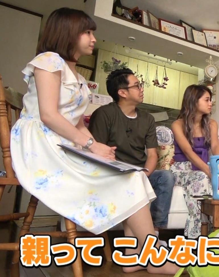 角谷暁子アナ 横乳&ちょいワキちら!かなり巨乳みたいですキャプ・エロ画像8