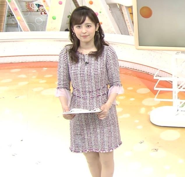 久慈暁子アナ スカートが短くて太ももチラリキャプ・エロ画像