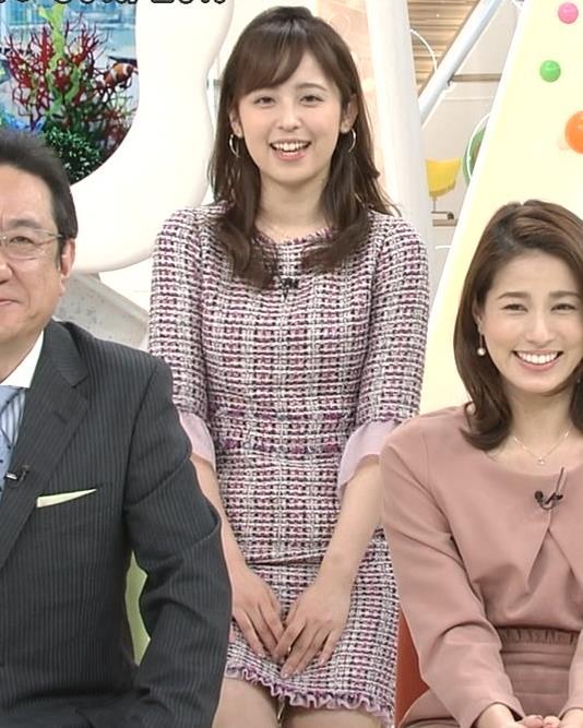 久慈暁子アナ スカートが短くて太ももチラリキャプ・エロ画像2