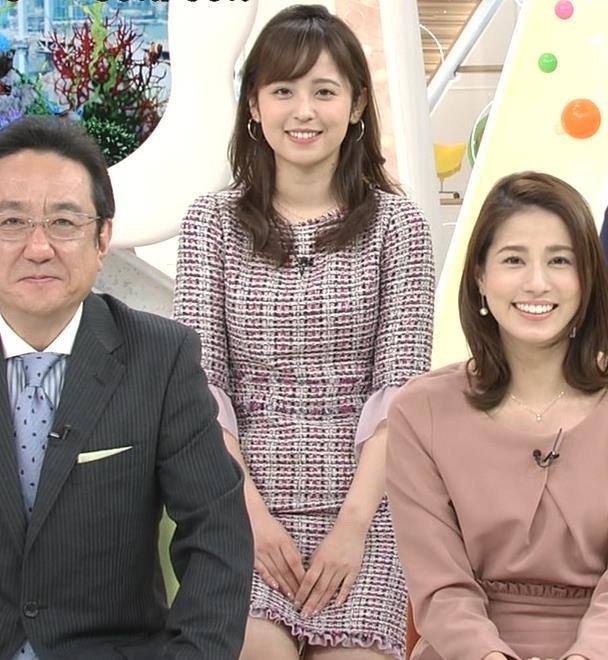 久慈暁子アナ スカートが短くて太ももチラリキャプ・エロ画像3