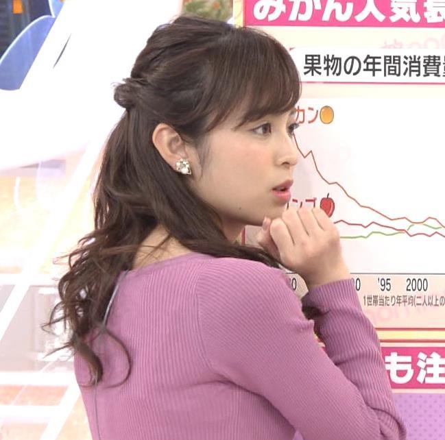久慈暁子アナ ニット乳キャプ・エロ画像