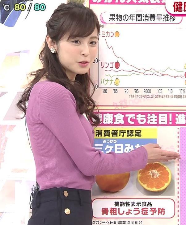 久慈暁子アナ ニット乳キャプ・エロ画像3