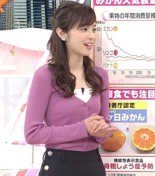 久慈暁子アナ ニット乳キャプ・エロ画像4