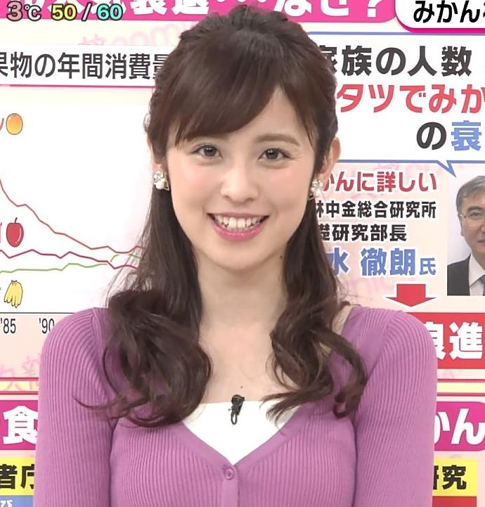 久慈暁子アナ ニット乳キャプ・エロ画像6