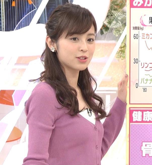 久慈暁子アナ ニット乳キャプ・エロ画像7