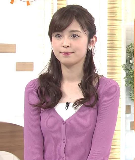 久慈暁子アナ ニット乳キャプ・エロ画像9