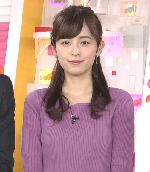 久慈暁子アナ 安定のニット乳キャプ・エロ画像2
