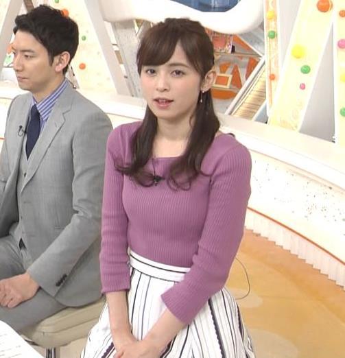 久慈暁子アナ 安定のニット乳キャプ・エロ画像5