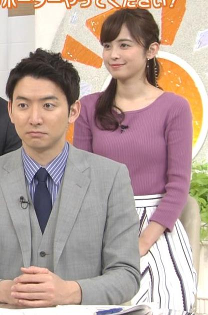 久慈暁子アナ 安定のニット乳キャプ・エロ画像6