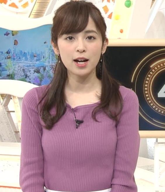 久慈暁子アナ 安定のニット乳キャプ・エロ画像8