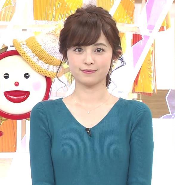 久慈暁子アナ エロかわいいニット乳キャプ・エロ画像