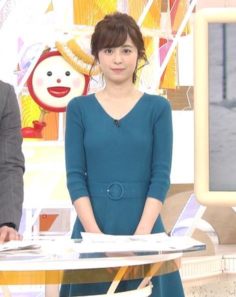 久慈暁子アナ エロかわいいニット乳キャプ・エロ画像2