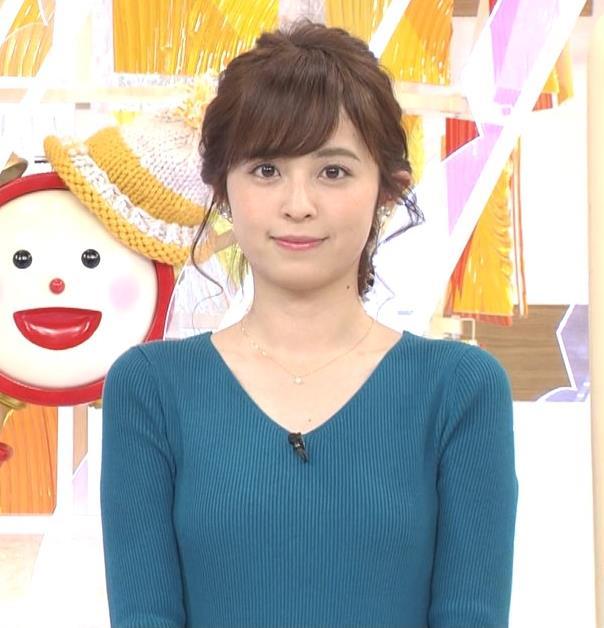 久慈暁子アナ エロかわいいニット乳キャプ・エロ画像3