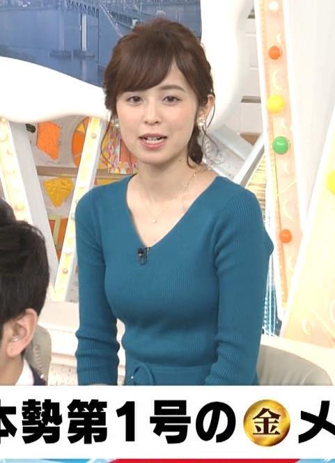 久慈暁子アナ エロかわいいニット乳キャプ・エロ画像8