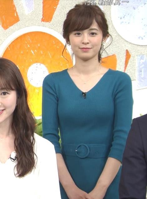 久慈暁子アナ エロかわいいニット乳キャプ・エロ画像10