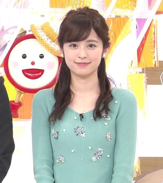 久慈暁子アナ ニット姿キャプ・エロ画像