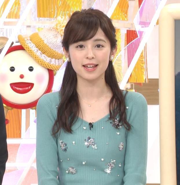 久慈暁子アナ ニット姿キャプ・エロ画像2