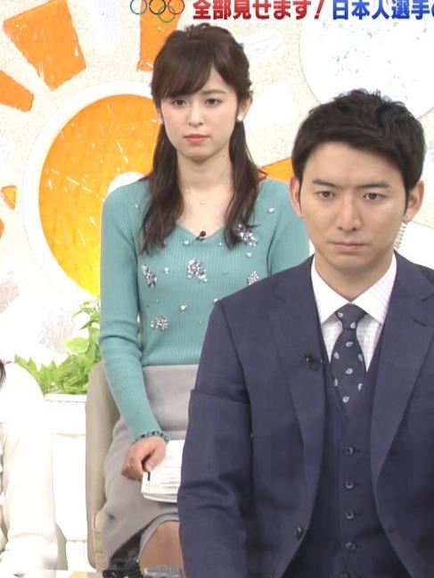 久慈暁子アナ ニット姿キャプ・エロ画像4