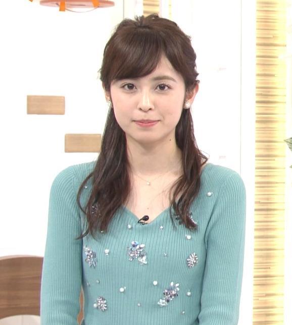 久慈暁子アナ ニット姿キャプ・エロ画像5