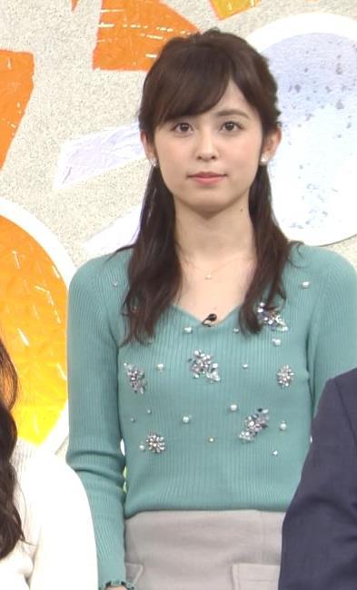 久慈暁子アナ ニット姿キャプ・エロ画像6