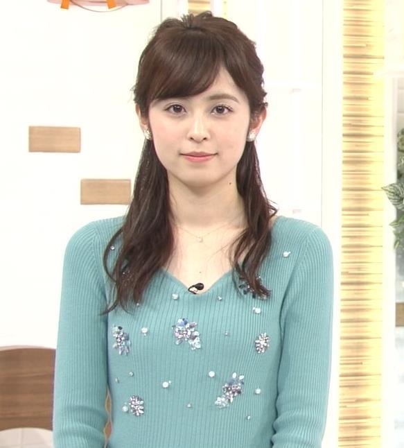 久慈暁子アナ ニット姿キャプ・エロ画像7