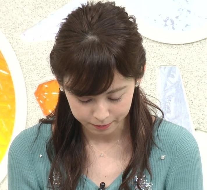 久慈暁子アナ ニット姿キャプ・エロ画像8