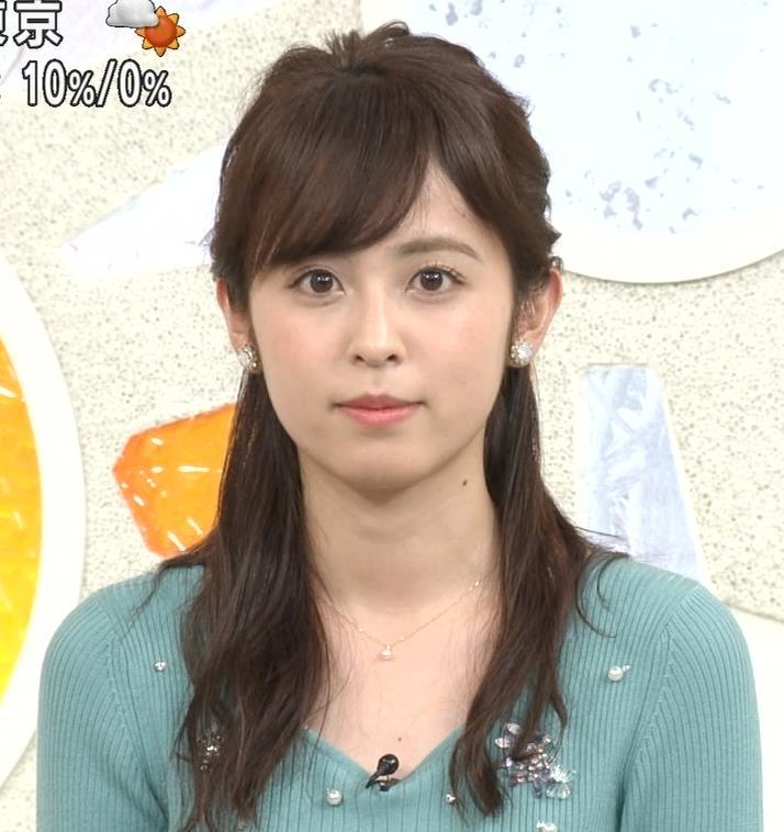 久慈暁子アナ ニット姿キャプ・エロ画像9