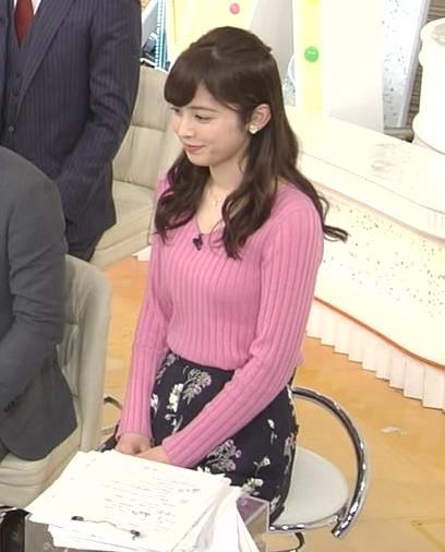 久慈暁子アナ ニット横乳★エロかわいいキャプ・エロ画像11