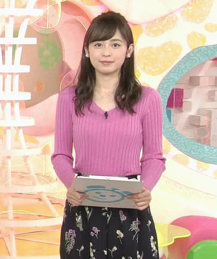 久慈暁子アナ ニット横乳★エロかわいいキャプ・エロ画像4