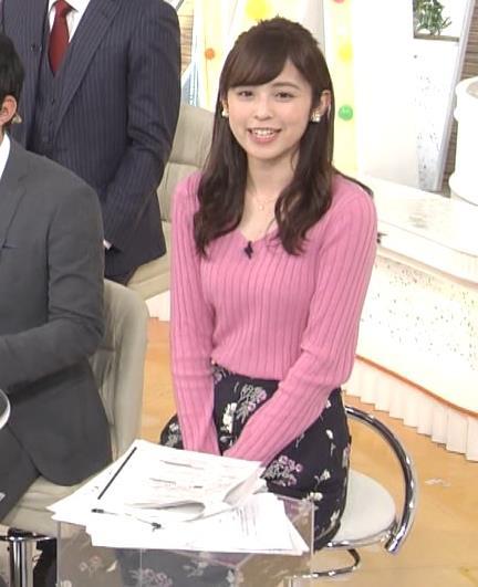 久慈暁子アナ ニット横乳★エロかわいいキャプ・エロ画像7
