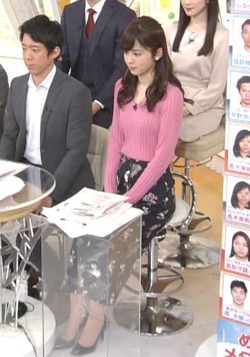 久慈暁子アナ ニット横乳★エロかわいいキャプ・エロ画像8