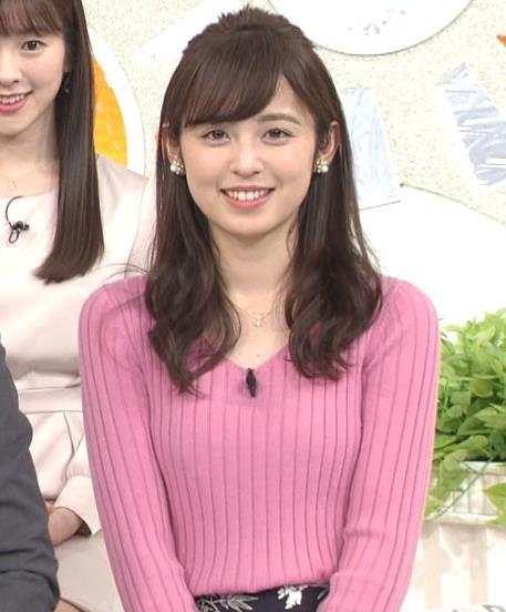 久慈暁子アナ ニット横乳★エロかわいいキャプ・エロ画像9