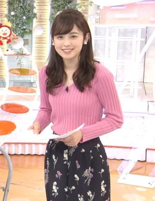 久慈暁子アナ ニット横乳★エロかわいいキャプ・エロ画像10