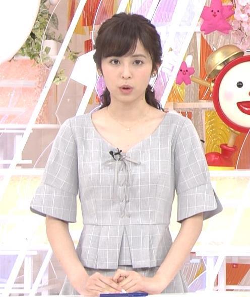 久慈暁子アナ 胸元がちょっと見えてエロい!!キャプ・エロ画像2