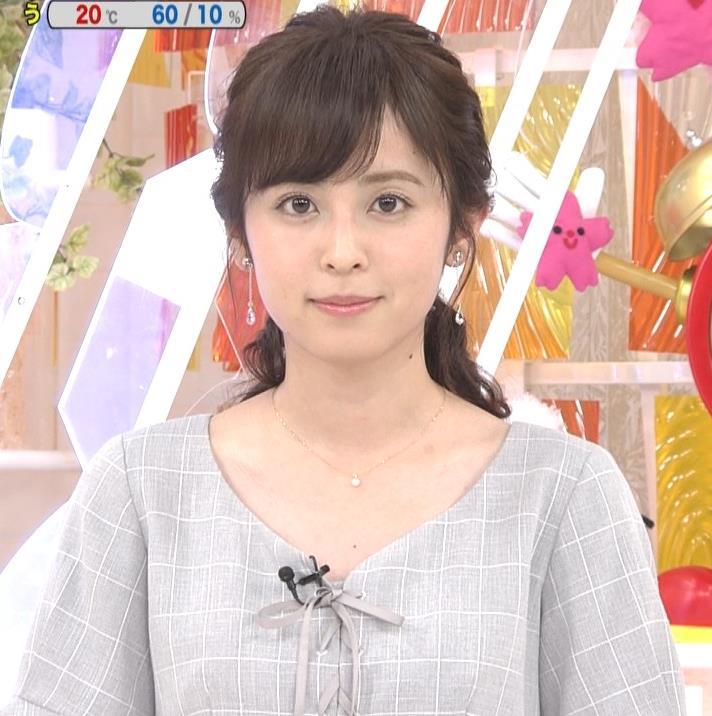 久慈暁子アナ 胸元がちょっと見えてエロい!!キャプ・エロ画像3
