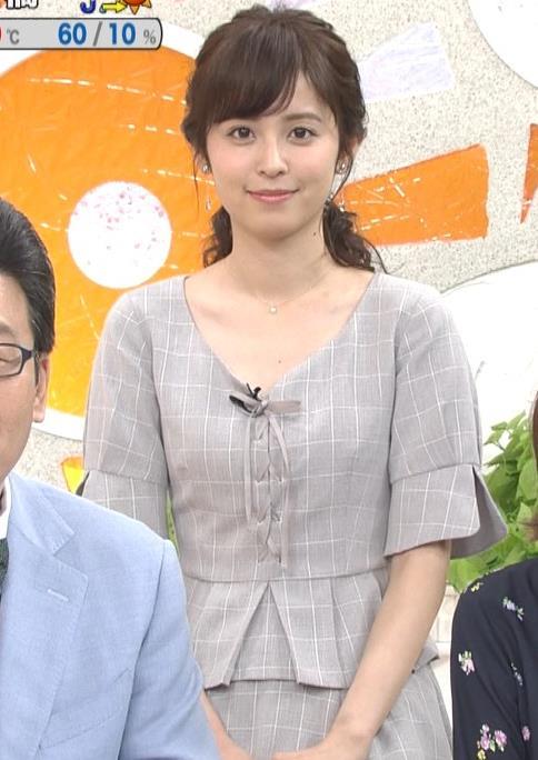 久慈暁子アナ 胸元がちょっと見えてエロい!!キャプ・エロ画像4