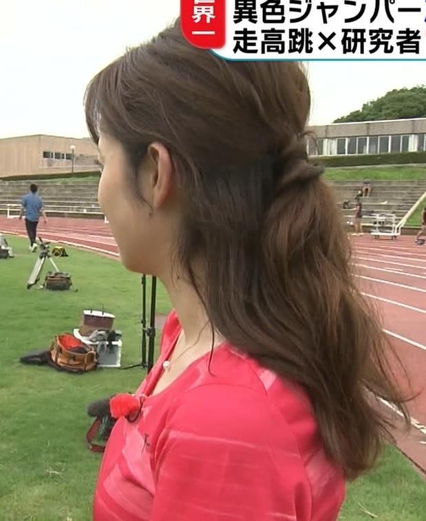 久慈暁子アナ ピチピチなTシャツやプリケツ画像キャプ・エロ画像3