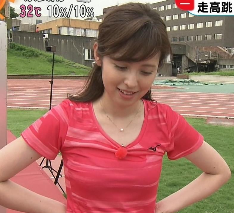 久慈暁子アナ ピチピチなTシャツやプリケツ画像キャプ・エロ画像5