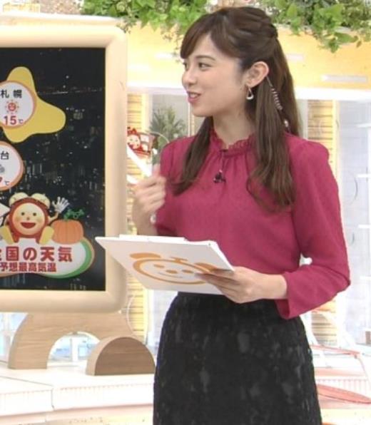 久慈暁子 めざましテレビキャプ画像(エロ・アイコラ画像)
