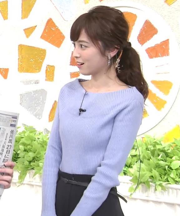 久慈暁子アナ 肩が露出気味のニットキャプ・エロ画像7