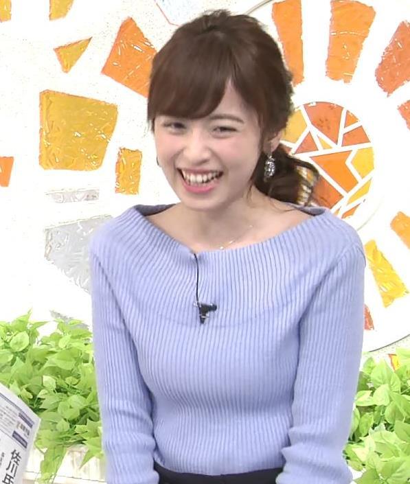 久慈暁子アナ 肩が露出気味のニットキャプ・エロ画像9