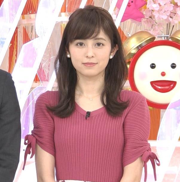 久慈暁子アナ エロかわいいニットおっぱいキャプ・エロ画像