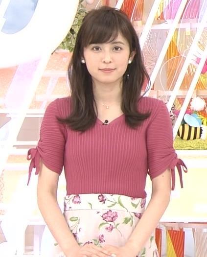 久慈暁子アナ エロかわいいニットおっぱいキャプ・エロ画像4