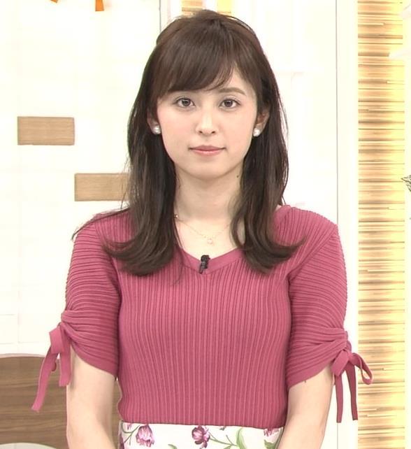 久慈暁子アナ エロかわいいニットおっぱいキャプ・エロ画像10