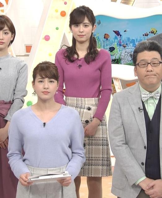 久慈暁子アナ クッキリ♡ニットおっぱいキャプ・エロ画像2
